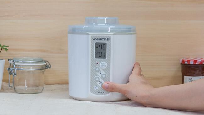タイマーを7時間、温度を40度に設定している