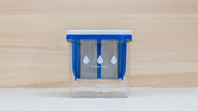 水切りヨーグルトができる容器の外観