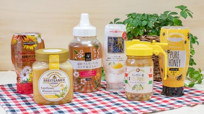 6種類の蜂蜜