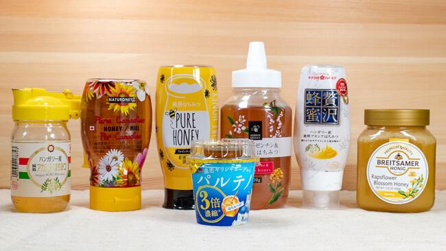 パルテノと6種類の蜂蜜